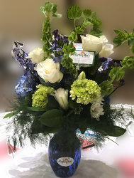 Beautiful in Blue from Martha Mae's Floral & Gifts in McDonough, GA