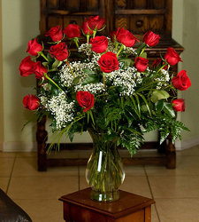 24 Long Stem Red Roses In a Vase  from Martha Mae's Floral & Gifts in Stockbridge, GA